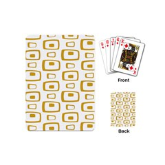 Plaid Gold Playing Cards (Mini)