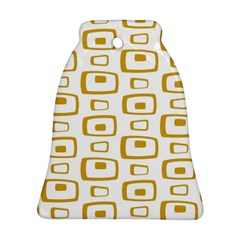 Plaid Gold Ornament (Bell)