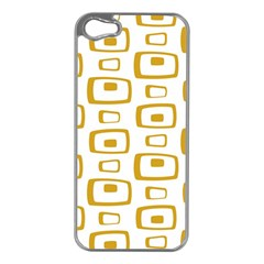 Plaid Gold Apple iPhone 5 Case (Silver)