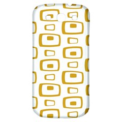 Plaid Gold Samsung Galaxy S3 S III Classic Hardshell Back Case