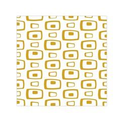 Plaid Gold Small Satin Scarf (Square)