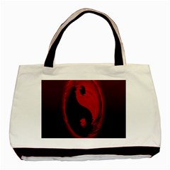 Red Black Taichi Stance Sign Basic Tote Bag