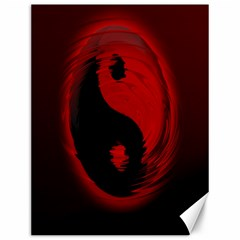 Red Black Taichi Stance Sign Canvas 12  x 16