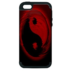 Red Black Taichi Stance Sign Apple iPhone 5 Hardshell Case (PC+Silicone)