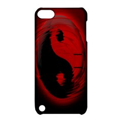 Red Black Taichi Stance Sign Apple iPod Touch 5 Hardshell Case with Stand