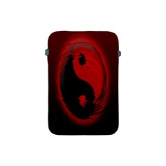 Red Black Taichi Stance Sign Apple iPad Mini Protective Soft Cases