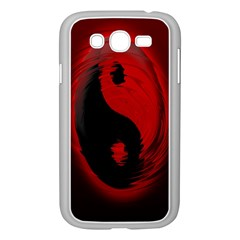 Red Black Taichi Stance Sign Samsung Galaxy Grand DUOS I9082 Case (White)