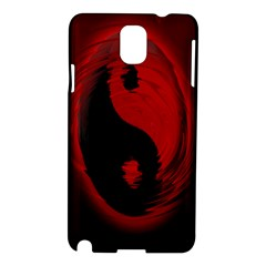 Red Black Taichi Stance Sign Samsung Galaxy Note 3 N9005 Hardshell Case