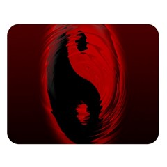 Red Black Taichi Stance Sign Double Sided Flano Blanket (Large)