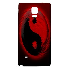 Red Black Taichi Stance Sign Galaxy Note 4 Back Case