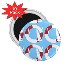 Sail Summer Buoy Boath Sea Water 2.25  Magnets (10 pack)