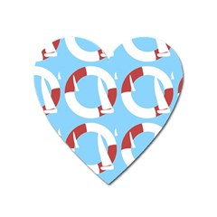 Sail Summer Buoy Boath Sea Water Heart Magnet