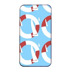 Sail Summer Buoy Boath Sea Water Apple iPhone 4/4s Seamless Case (Black)