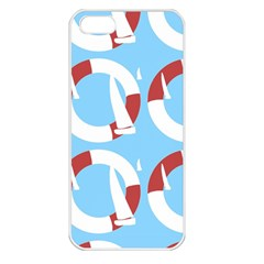 Sail Summer Buoy Boath Sea Water Apple iPhone 5 Seamless Case (White)