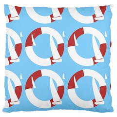 Sail Summer Buoy Boath Sea Water Large Flano Cushion Case (two Sides)
