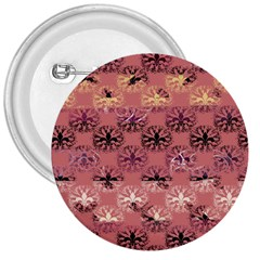 Overlays Pink Flower Floral 3  Buttons