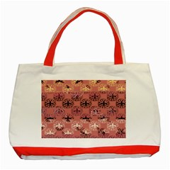 Overlays Pink Flower Floral Classic Tote Bag (Red)