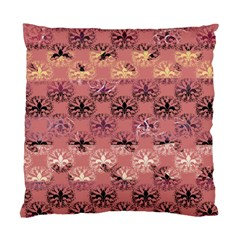 Overlays Pink Flower Floral Standard Cushion Case (One Side)