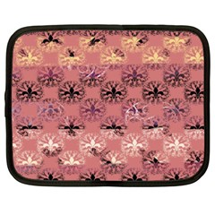 Overlays Pink Flower Floral Netbook Case (XXL)