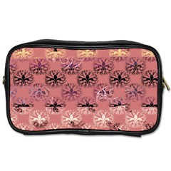 Overlays Pink Flower Floral Toiletries Bags 2-Side