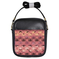 Overlays Pink Flower Floral Girls Sling Bags