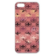 Overlays Pink Flower Floral Apple Seamless iPhone 5 Case (Clear)