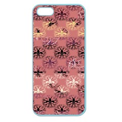 Overlays Pink Flower Floral Apple Seamless iPhone 5 Case (Color)