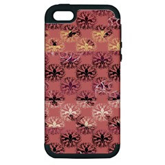 Overlays Pink Flower Floral Apple iPhone 5 Hardshell Case (PC+Silicone)