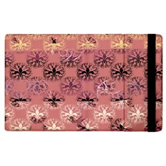 Overlays Pink Flower Floral Apple Ipad 3/4 Flip Case