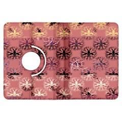 Overlays Pink Flower Floral Kindle Fire HDX Flip 360 Case