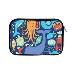 Sea Life Ikan Paus Duyung Kepiting Udang Ubur Ubur Penyu Karang Apple iPad Mini Zipper Cases