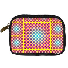 Rotational Plaid Purple Blue Yellow Digital Camera Cases