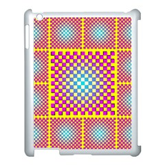 Rotational Plaid Purple Blue Yellow Apple iPad 3/4 Case (White)
