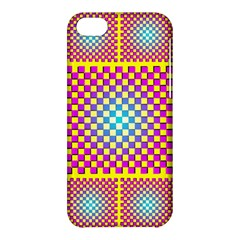 Rotational Plaid Purple Blue Yellow Apple iPhone 5C Hardshell Case