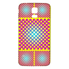 Rotational Plaid Purple Blue Yellow Samsung Galaxy S5 Back Case (White)