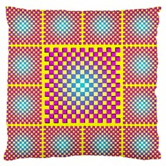 Rotational Plaid Purple Blue Yellow Standard Flano Cushion Case (One Side)
