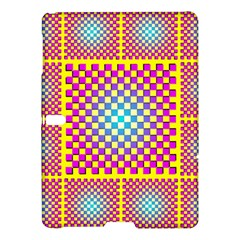 Rotational Plaid Purple Blue Yellow Samsung Galaxy Tab S (10.5 ) Hardshell Case