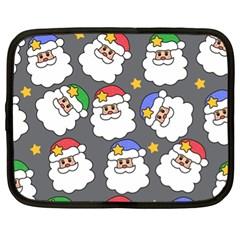 Santa Claus Face Mask Crismast Netbook Case (XL)