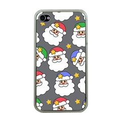 Santa Claus Face Mask Crismast Apple iPhone 4 Case (Clear)
