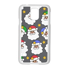 Santa Claus Face Mask Crismast Samsung Galaxy S5 Case (White)