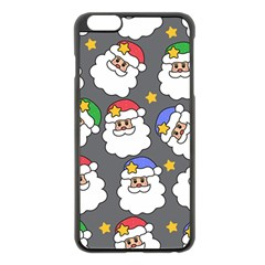 Santa Claus Face Mask Crismast Apple iPhone 6 Plus/6S Plus Black Enamel Case