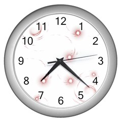 Red Glow Effect Wall Clocks (Silver)