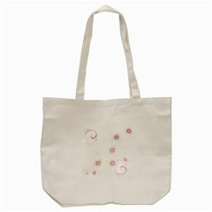 Red Glow Effect Tote Bag (Cream)