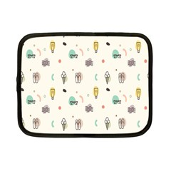 Slippers Lamp Glasses Ice Cream Grey Wave Water Netbook Case (Small)