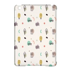 Slippers Lamp Glasses Ice Cream Grey Wave Water Apple iPad Mini Hardshell Case (Compatible with Smart Cover)