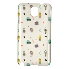 Slippers Lamp Glasses Ice Cream Grey Wave Water Samsung Galaxy Note 3 N9005 Hardshell Case
