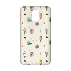 Slippers Lamp Glasses Ice Cream Grey Wave Water Samsung Galaxy S5 Hardshell Case