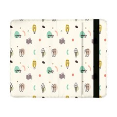 Slippers Lamp Glasses Ice Cream Grey Wave Water Samsung Galaxy Tab Pro 8.4  Flip Case