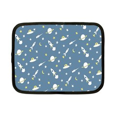 Space Saturn Star Moon Rocket Planet Meteor Netbook Case (Small)