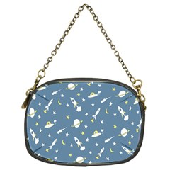 Space Saturn Star Moon Rocket Planet Meteor Chain Purses (One Side)